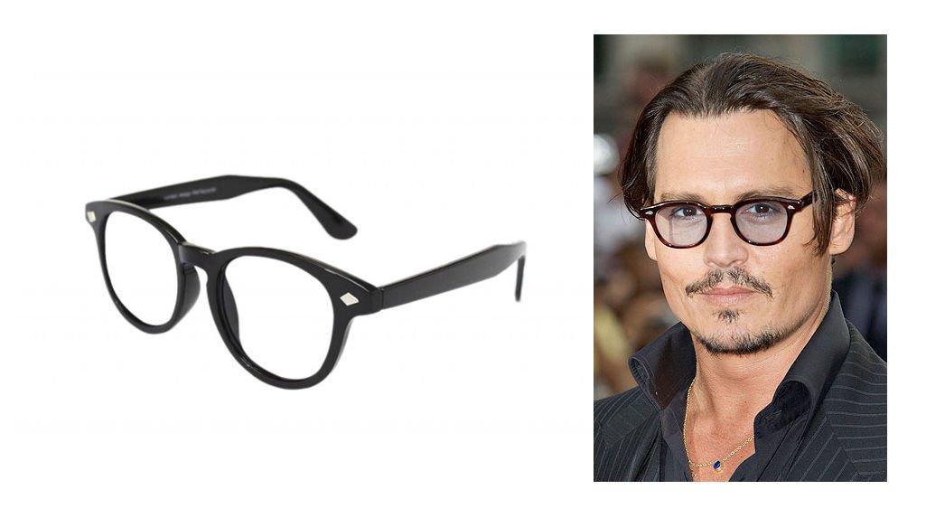 8ad7d29db38 New Black VTG Frame Men s Women s Clear Lens Depp Style Glasses VTG 50 s  Johnny glasses aviator glasses frames for men and women designer glasses  sale  ...