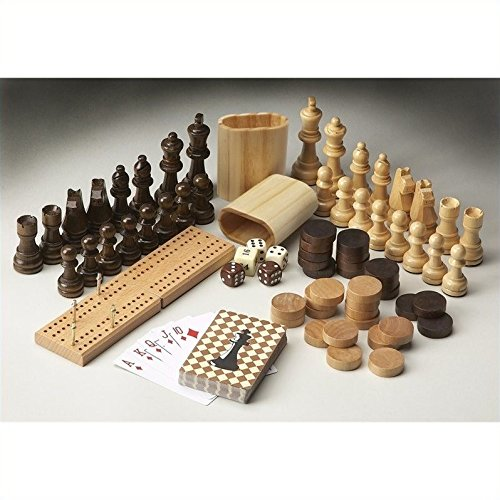 Beaumont Lane Carved Wood Game Pieces