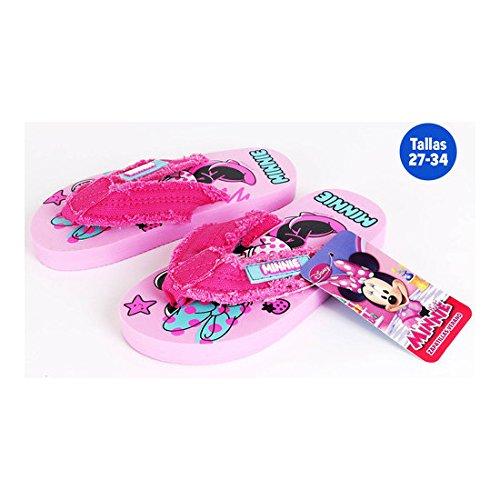 Flip Flops Sommer Mädchen Minnie Pink–Größe E2–Größe E2