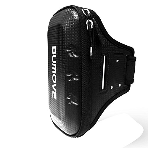Large Running Armband, BUMOVE Waterproof Gym Exercise/Workout Arm Band Wallet Bag for iPhone X, iPhone 6/7/8 Plus, Samsung Galaxy S7, S8/S9 Plus, Note 8 with Card Holder (Black) by BUMOVE (Image #1)