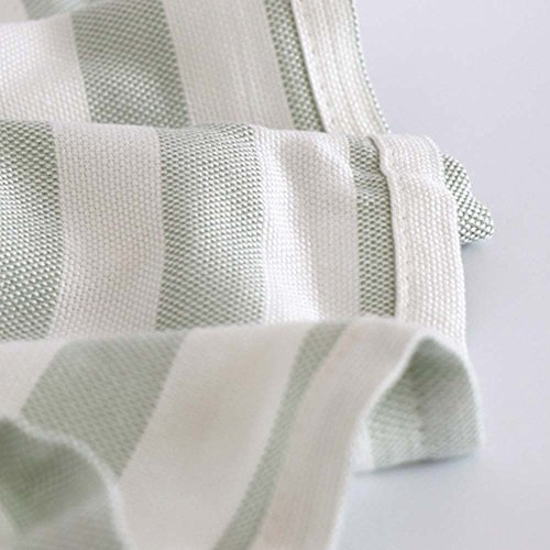 Babyhood Organic Bamboo Muslin Breathable Blankets Ultra Soft Baby Infant Receiving Blankets Green Stripes by Babyhood