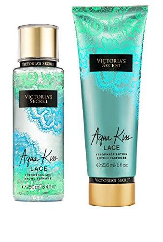 Victoria's Secret Fragrance Aqua Kiss Lace Body Lotion & Body Mist Set