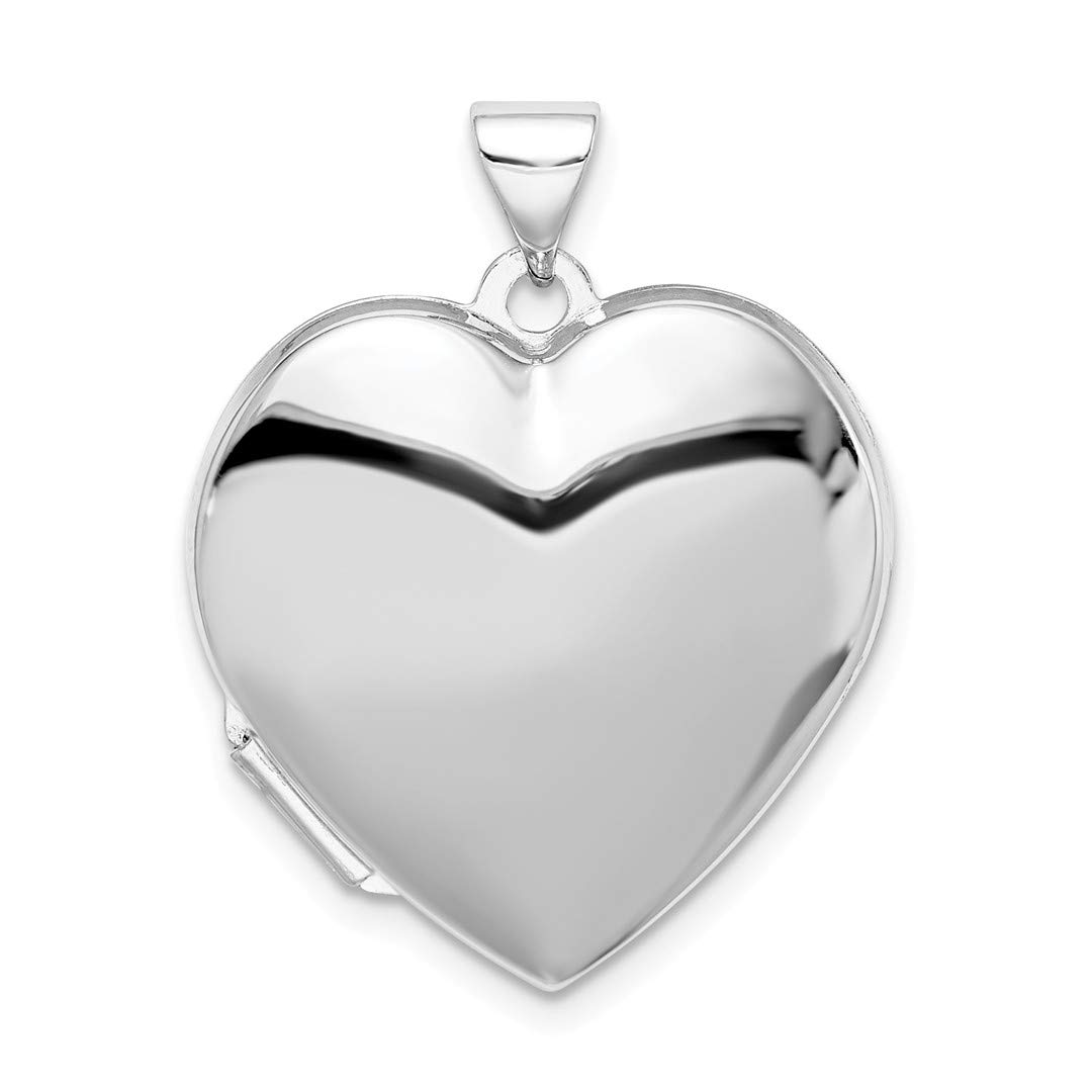 ICE CARATS 925 Sterling Silver Plain 21mm Heart Photo Pendant Charm Locket Chain Necklace That Holds Pictures Fine Jewelry Ideal Gifts For Women Gift Set From Heart