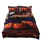 KTLRR Halloween Bedding Set Gift 3D Print Zombies Duvet Cover Set (no comforter), Twin/Full/Queen/King Size 4-Piece Festival Decoration Bedding (Twin, Pattern#01)