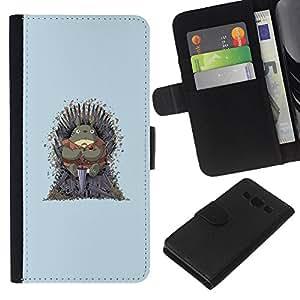 LECELL--Cuero de la tarjeta la carpeta del tirón Smartphone Slots Protección Holder For Samsung Galaxy A3 -- Vecino Totoro Tronos --