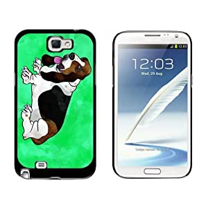 Basset Hound Watercolor Teal Case for Samsung Galaxy Note II 2 Black iphone cases for teen girlsiphone cases for girls