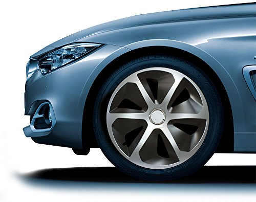 Cora /&apos 41945/4/Universal Aluminium Look Roco Mix 15-Inch Wheel Trim Set of 4