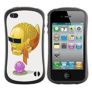 fashion Case for Apple iPhone 6 plus 5.5 for kids / Cool Goldfish Buddha