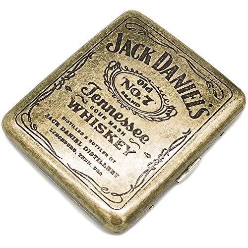 estcuche metal retro para 20 cigarrillos 85mm jack daniels