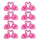 Inflatable Drink Holders,16 Pack Flamingo Palm Donut Fruit Inflatable Party Cup Holders,Party Supplies For Pool Party Beach and Kids Bath Toys (16 Flamingo)