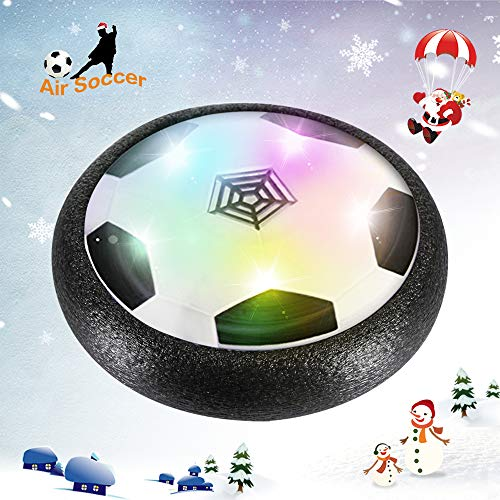 ds Air Power Soccer Disc With Powerful LED light and Foam Bumpers for Indoor Outdoor Games Foot Ball Training ()