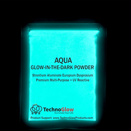 Aqua Glow in the Dark & UV Powder; 100-150 Microns (1 LB) by Techno Glow Inc (Image #1)