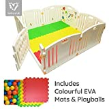 NEW Venture ALL STARS Baby Playpen | 8 Pcs Including Fun Activity Panel | Fitted Floor Mats And...
