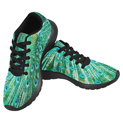 InterestPrint Womens Jogging Running Sneaker Lightweight Go Easy Walking Casual Comfort Running Shoes Peacock Feathers Out Animal Birds Multi 1 qvJNcLs