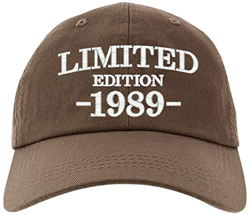 - Cap 1989-30th Birthday Gifts, Limited Edition All Original Parts Baseball Hat 1989-EM-0006-Brown