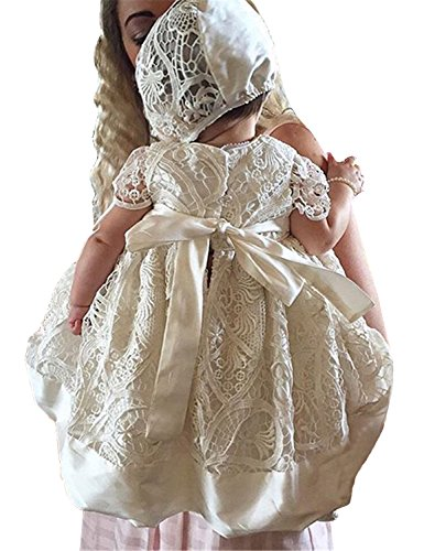 (Aorme Ivory Lace Christening Gowns for Girls Baptism Dress 0-24 Months)