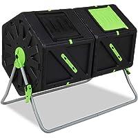 Garden Point Compostador de Tambor de 2 x 105l | Equipado con Orificios de ventilación | Fabricado en Polipropileno y…