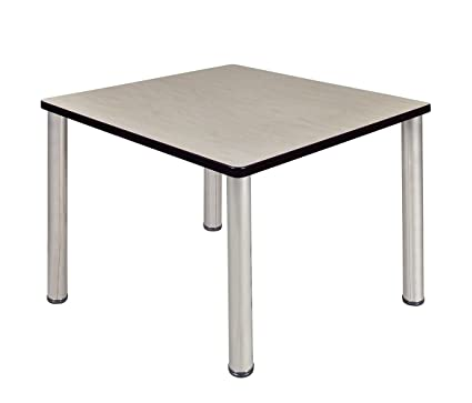 Regency Seating Kee 36u0026quot; Square Breakroom Table  Maple/Chrome