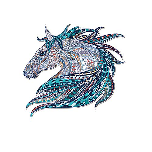 Artem Beautiful Horse Patch South American Indian Style Thermal Transfer Stickers Iron on Patches 3.3X3.1 inch for DIY T-Shirt Jacket Grade-A