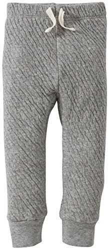 Burt's Bees Baby Unisex Organic Quilted Jogger, Heather Grey, 0-3 Months
