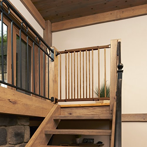 ... Evenflo Top Of The Stair Extra Tall Hardware Mount Gate, Dark Wood ...