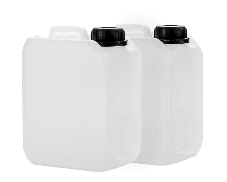 2 x 2,5 l Taniche in HDPE, con tappo DIN 45 mm e conformi alle norme ONU, taniche per l'acqua, adatte all'uso alimentare taniche per l' acqua adatte all' uso alimentare Octopus PLF2500KAN-S1