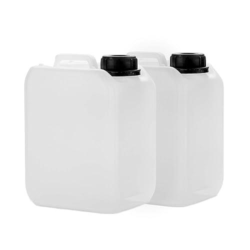 2x 2,5 L bidon en HDPE, avec bouchon DIN 45 mm et une certification UN, bidon d'eau, approuvé pour l'usage alimentaire