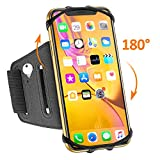 TEUMI Phone Armband, 180° Rotatable Running Phone Holder, Compatible with iPhone XR/XS Max/X/8