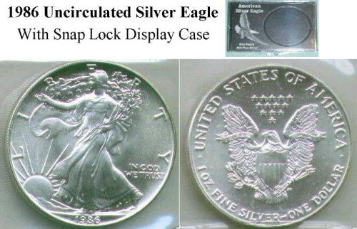 1986 Choice Brilliant Uncirculated American Silver Eagle Silver Dollar