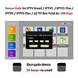 SOUDIO 16-Digit Brazil TV Box Renew Code for IPTV Brazil / IPTV5 / IPTV6 / IPTV5 Plus / IPTV6 Plus / A2 TV Box Brazil Brazilian TV Box Activation Code Subscription Service Valid for 400 Days