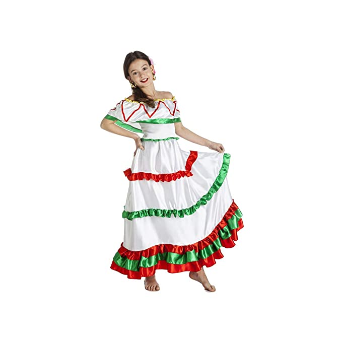 DISFRAZ MEXICANA TALLA 7-9: Amazon.es: Ropa y accesorios