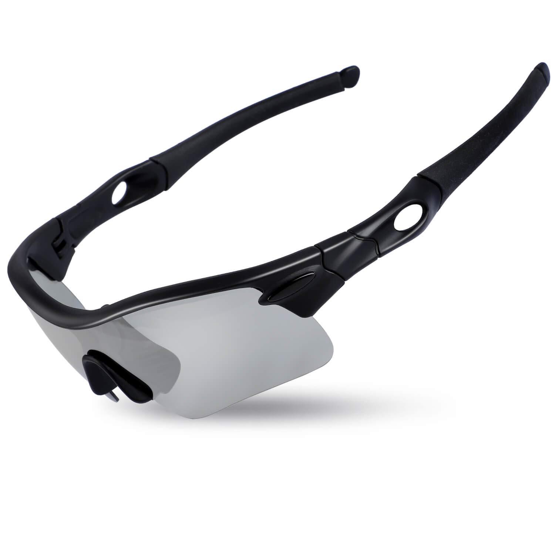 WESTGIRL Polarized Sports Sunglasses for Men Women, UV400 Protection Unbreakable Super Light Frame Glasses for Cycling Running Driving Fishing Climbing Golf Baseball