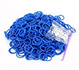 Rainbow Loom Rubber Bands 3000pcs with Crochet Hook and S_clips (Dark Blue)