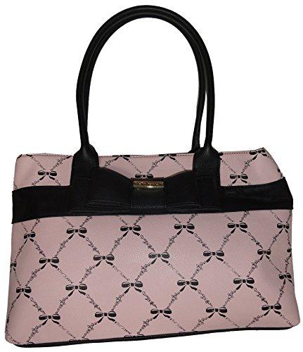 Betsey Johnson Women's Shopper Tote, Bow Blush (Betsey Johnson Bag Pink Bow)
