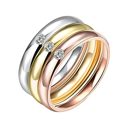 Stainless Steel 3 in 1 Ring Set (Silver) - 4