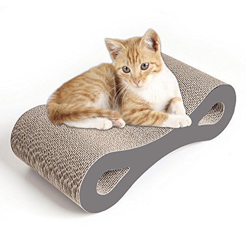 Dipet Cat Scratching Pad, Ultimate Cardboard Refill Lounge with Catnip(17x8.9x5.1 inches)