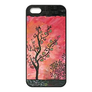 Giving tree Design Solid Rubber Customized Cover Case for iPhone 5 5s 5s-linda116