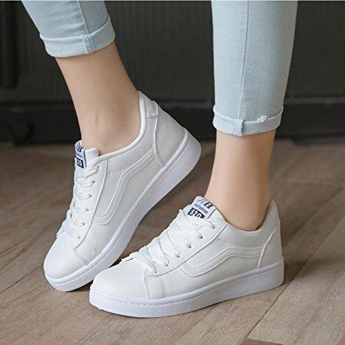 COOLCEPT Femmes Mode Sneaker Dentelle Courir La Marche Sport Chaussures Blanc bKN99NpZEl