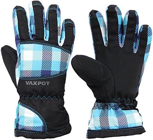 [해외]VAXPOT (백 냄비) 스키 장갑 주니어 VA-3960 BLU (GINGHAM) 130cm / VAXPOT Ski Glove Junior VA-3960 BLU(GINGHAM) 130cm