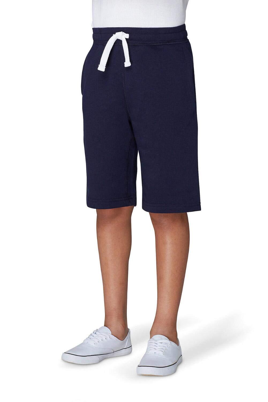 French Toast Boys' Big Fleece Gym Short, Navy, M (8)