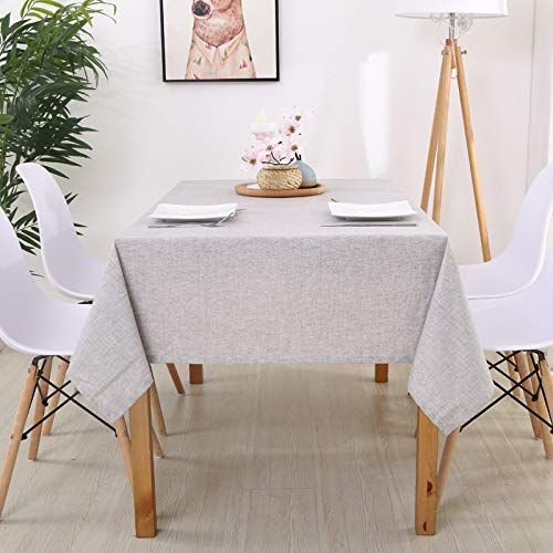 Houozon Table Cloth,Plaid Decorative Linen Tablecloth with Tassel Waterproof and Oil-Proof Table Cloth Pastoral Casual Style,Reliable Quality and Durable. by Houozon