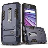 Moto X Play Case, CASEFORMERS Ultra Slim Moto X Play Armor Case for Motorola X Play [Shockproof Case] - Concrete Blue