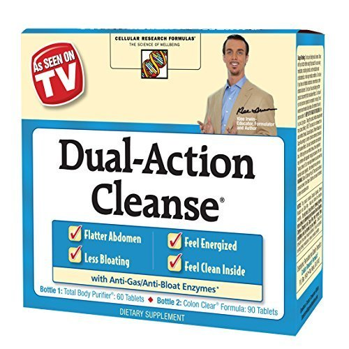 Cellular Research Formulas - Applied Nutrition Dual Action Cleanse, 150 Count Package by Applied Nutrition