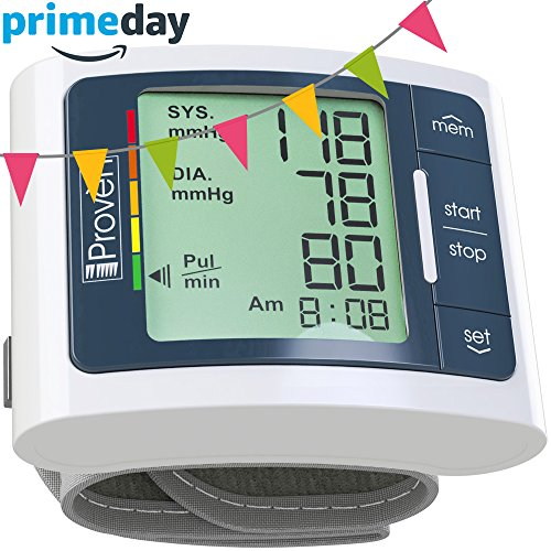 Digital Automatic Blood Pressure Monitor Wrist - Large Screen - Comfortable Cuff & Fast Reading machine - FDA Approved BP Monitors Top rated Electronic Machines and Cuffs for Home Use -iProvèn BPM-337 (Use Reading Home)
