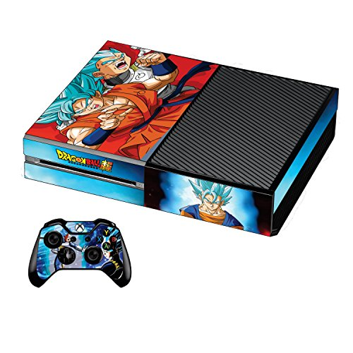 Xbox one Console Skin Decal DBZ Dragon Ball Super 2017+ 2 Free Xbox 1 Controller Skins Set