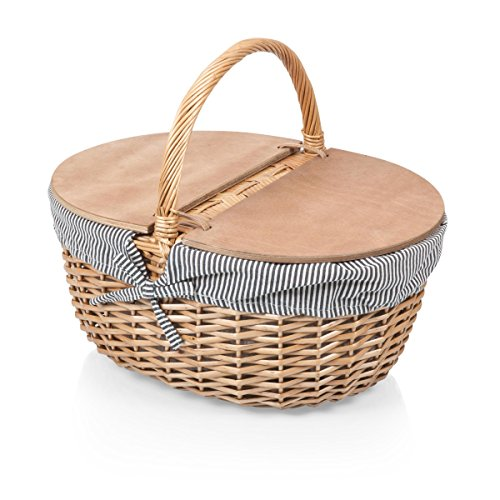 Stripe Market Tote - Picnic Time Country Picnic Basket with Liner