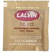 Home Brew Ohio B002LQAZGA Lalvin 71B-1122 Yeast, Multicolored