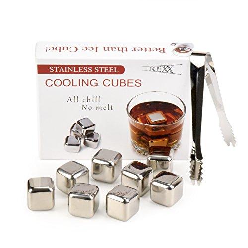 Glacier Rocks - Whiskey Stones gift set - Scotch Soapstone Glacier Ice Cubes...