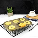 Ragdoll50 Donut Mold Cookie Dessert Maker Bakeware Baking Tool(Gold)