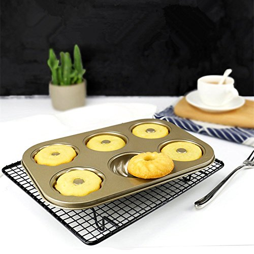 Ragdoll50 Donut Mold Cookie Dessert Maker Bakeware Baking Tool(Gold) by Ragdoll50